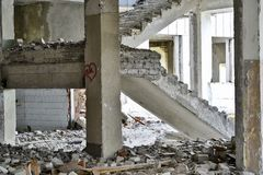 Demolition and dismantling of the remnants of the large industrial enterprise Stock Images