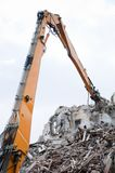 Demolition Excavator Stock Photo