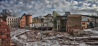 Demolition of factory Stock Image