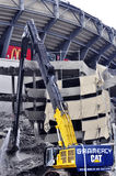 Demolition of Giants Stadium Stock Photos