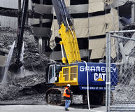 Demolition of Giants Stadium Stock Images
