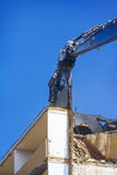 Demolition of high-rise building with prefabricated Royalty Free Stock Photography