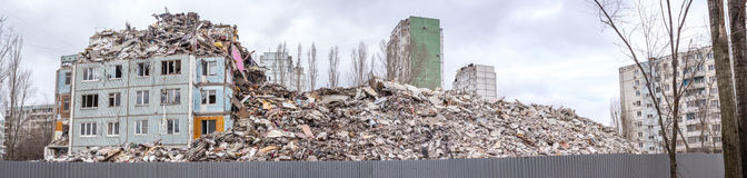 Demolition House. Royalty Free Stock Photo