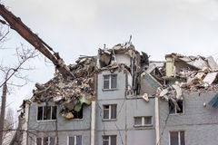 Demolition House. Stock Photo