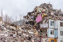 Demolition House. Royalty Free Stock Photography