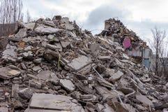 Demolition House. Stock Photos