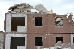 Demolition of a house Royalty Free Stock Images