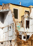 Demolition of a house Royalty Free Stock Image