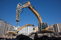 Demolition hydraulic hammer Stock Photos