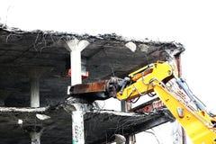 Demolition, hydraulic shears Royalty Free Stock Photo