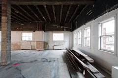 Demolition - improvements on existing construction. Demolition of Interior for remodeling work on an existing commercial building preparing for any energy Stock Images