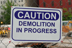 Demolition In Progress Stock Image