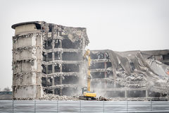 Demolition of industrial building Stock Photos