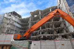 Demolition of a large building Royalty Free Stock Images