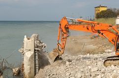 Demolition machine Royalty Free Stock Image