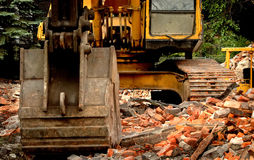 Demolition machinery Royalty Free Stock Photo