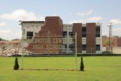 Demolition of Millington Central High School Stock Photos