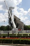 "Demolition of the monument ""1300 years of Bulgaria"" near by NDK in Sofia, Bulgaria – july 4, 2017. Communist regime. Demolition of the Royalty Free Stock Photo"