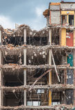 Demolition of a Multi Floor Bulding Stock Photo