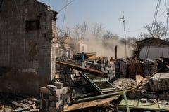 Demolition in a neighborhood Stock Images