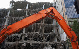 Demolition of an office building Royalty Free Stock Photo