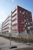 Demolition. Of an office building in Magdeburg stock photography