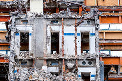Demolition of an office building Stock Photo