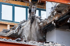 Demolition of an office building Stock Image