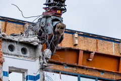 Demolition of an office building Royalty Free Stock Photography
