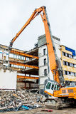 Demolition of an office building Royalty Free Stock Image