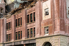 Demolition of Old Brick Building in downtown Portland OR Stock Photos