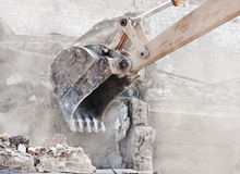 Demolition of old building Royalty Free Stock Images