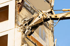 Demolition of an old building Royalty Free Stock Images