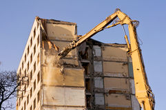 Demolition of an old building Stock Photos