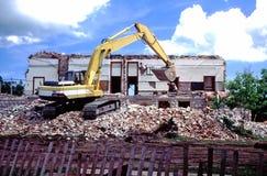 Demolition of Old Building Stock Image