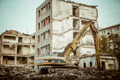 Demolition of the old building Royalty Free Stock Photos