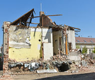Demolition of an old building Royalty Free Stock Photos