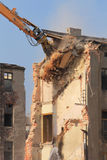 Demolition of the old building in the town Royalty Free Stock Photography