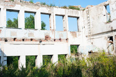 Demolition of old buildings Royalty Free Stock Photo
