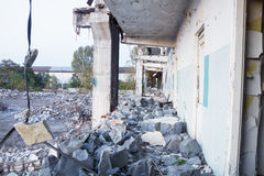 Demolition of the old factory building Royalty Free Stock Photography
