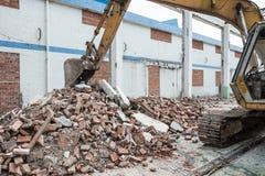 Demolition of old factory building. Demolition of an old factory building Stock Images