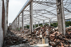 Demolition of old factory building Royalty Free Stock Photography