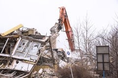 Demolition of the old factory building - Poland Royalty Free Stock Images
