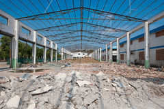 Demolition of an old factory building Royalty Free Stock Photography