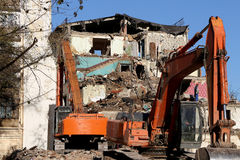 Demolition of an old house Stock Photography