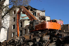 Demolition of an old house Royalty Free Stock Photos