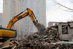 Demolition of an old house Royalty Free Stock Images