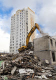 Demolition of an old house Royalty Free Stock Image