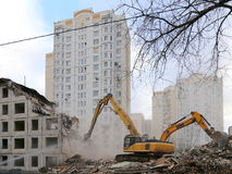 Demolition of an old house Royalty Free Stock Photography