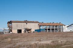 Demolition of an old industrial building. In Vordingborg Denmark Royalty Free Stock Image